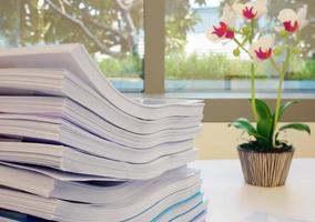 document in kantoor foto