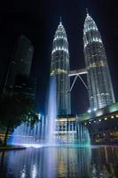 het hart van de tweelingtorens van Kuala Lumpur, de stad Petronas foto
