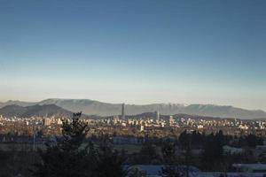 de skyline van Santiago Chili foto