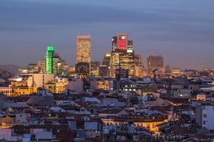 skyline van Madrid centrum