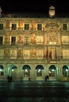 plaza burgemeester, nacht foto