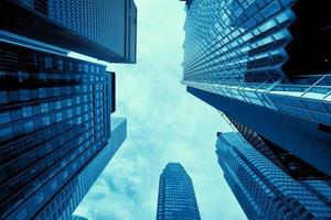 financiële district van Toronto van onderen
