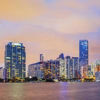 Miami Florida, zonsondergang foto