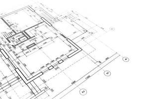architectonische plattegronden foto