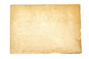 notitie papier isoleren op een witte achtergrond foto