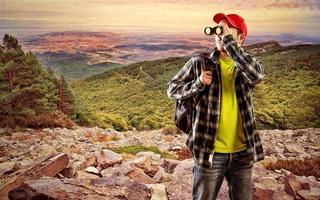 mannelijke reiziger foto