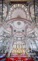 fatih moskee in het district istanbul, turkije foto