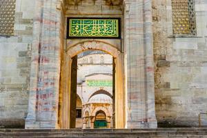 de sultan ahmed moskee is een historische moskee in istanbul, turkije foto