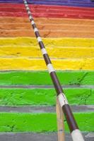 regenboog trappen foto