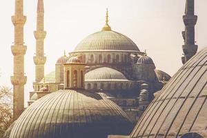 blauwe moskee in istanbul foto
