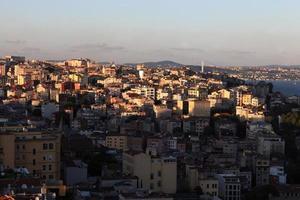 weergave van istanbul bij zonsondergang foto