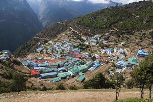 uitzicht op namche bazaar foto