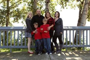 familiefoto's horizontaal vallen