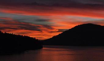 romantische zonsondergang foto