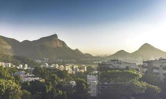zonsopgang boven Rio de Janeiro foto