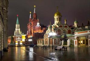 Rusland. Moskou 's nachts.