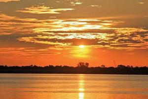 gele zonsondergang