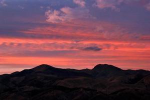 luchtspiegeling zonsondergang foto