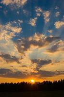 zonsondergang hemel foto