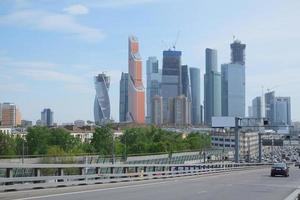 beeld van de stad Moskou foto