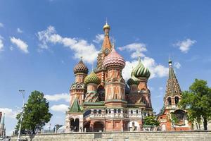 meest beroemde Russische kathedraal op het rode vierkant foto