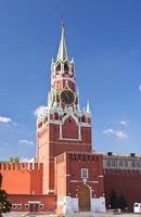 spasskaya toren in het kremlin van moskou foto