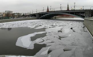 Rusland, Moskou, panoramisch uitzicht foto