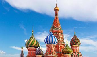 Moskou. st. basil kathedraal foto