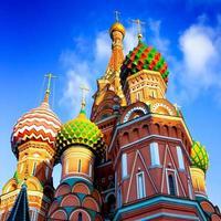 st basils kathedraal op het Rode plein in Moskou foto