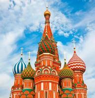 de beroemdste kathedraal op het Rode plein in Moskou foto