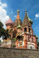 Saint basil kathedraal op het Rode plein in Moskou, Rusland