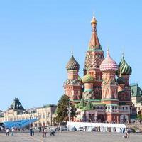 kathedraal op het Rode plein van Moskou Kremlin foto