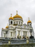 kathedraal van Christus de Verlosser in Moskou, Rusland foto