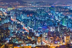seoel, de skyline van zuid-korea foto
