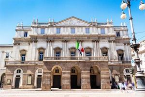 scala theater in milaan, italië foto