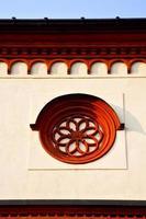 roosvenster Italië Lombardije in het oude barza foto