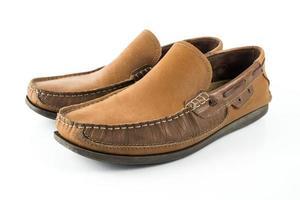 mannen schoenen op wit geïsoleerd foto