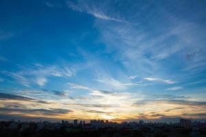 zonsondergang en zonsopgang foto