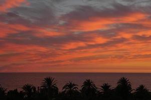zonsondergang in Spanje foto
