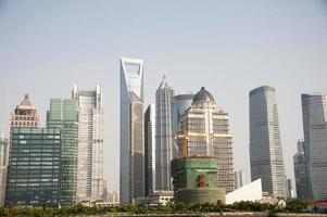 shanghai, pudong skyline foto