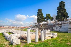 ruïnes van oude smyrna. Izmir, Turkije foto
