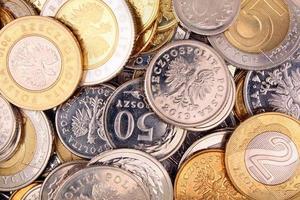 poets geldmunten op foto