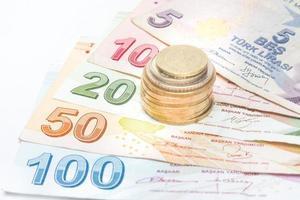 Turkse lira-geld foto