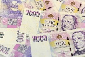 Tsjechisch geld 1000 foto