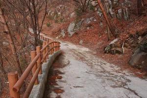 traject bij Bukhansan berg foto