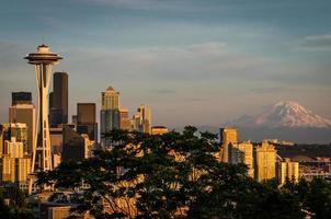 Seattle zonsondergang 2 foto