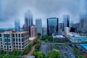 Charlotte North Carolina uitzicht rond het centrum foto