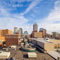 wolkenkrabbers in het centrum van Indianapolis foto