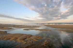 Jacksonville Beach bij zonsondergang foto