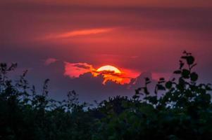 zonsondergang in Engeland foto